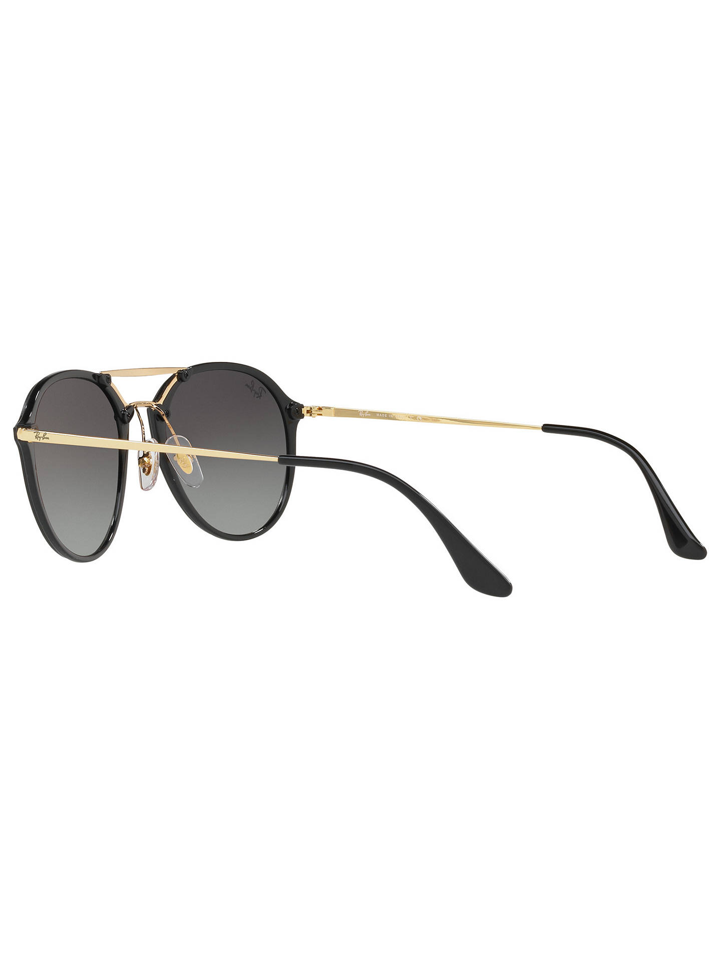 BuyRay-Ban RB4292N Blaze Double Bridge Oval Sunglasses, Black/Grey Gradient Online at johnlewis.com