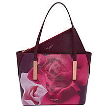 Buy Ted Baker Betulaa Porcelain Rose Small Leather Shopper, Maroon Online at johnlewis.com