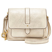 Buy Fossil Kinley Small Leather Cross Body Bag, Pale Gold Online at johnlewis.com