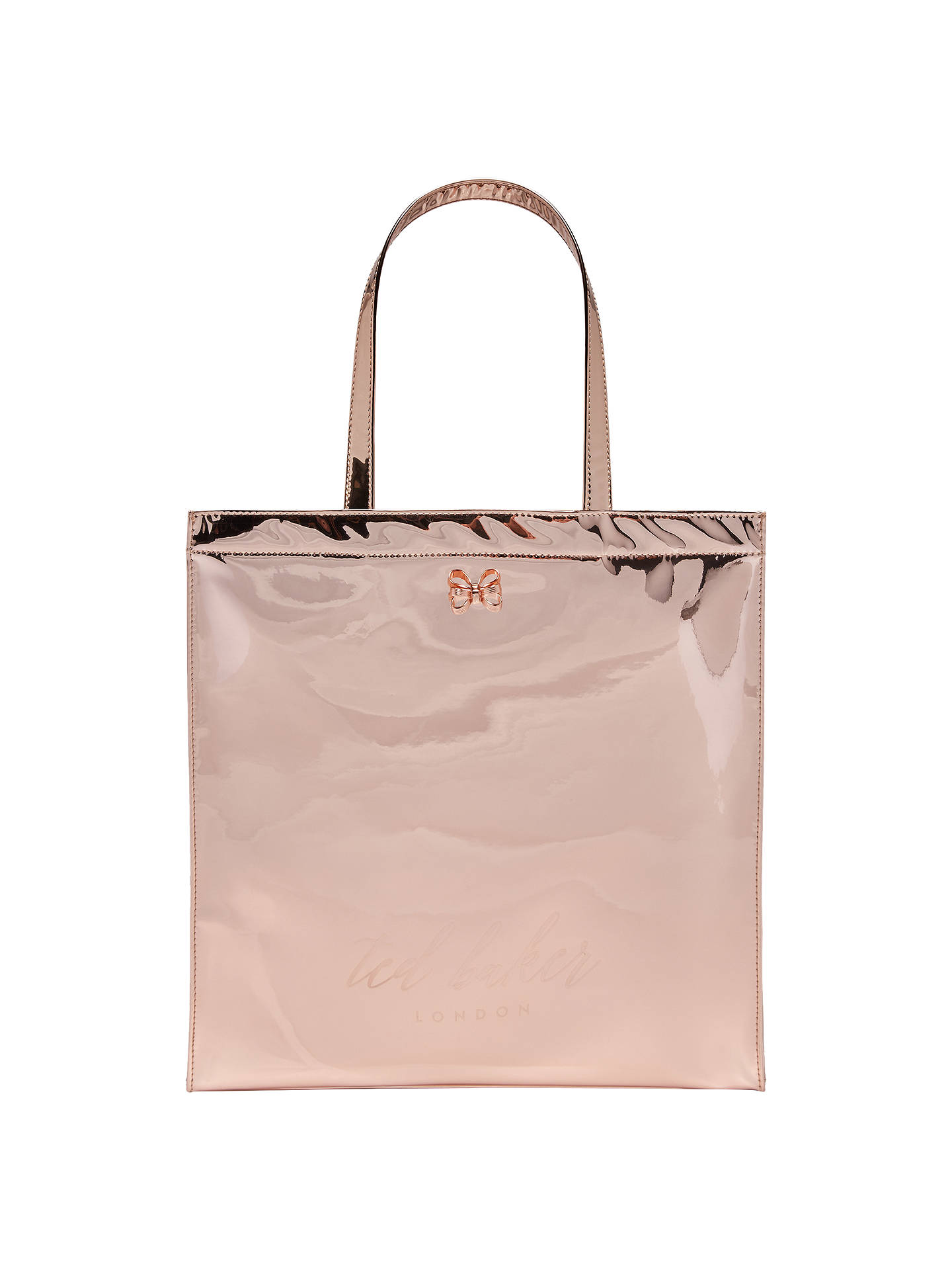 32be9d7a8790 Ted Baker Jencon Mirrored Large Icon Shopper Bag at John Lewis ...