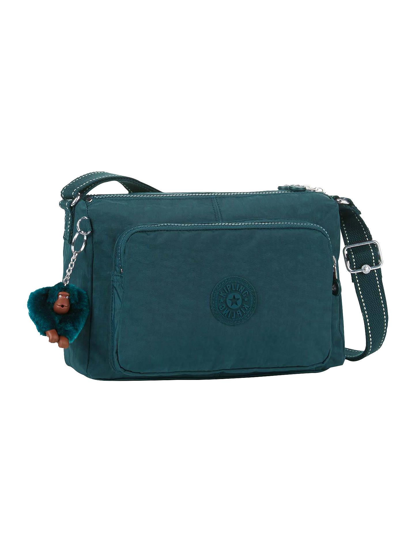 d1009fa453a Buy Kipling Reth Shoulder Bag, Deep Emerald Online at johnlewis.com ...