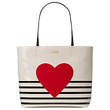 Buy kate spade new york Yours Truly Canvas Tote Bag, Heart Stripe Online at johnlewis.com