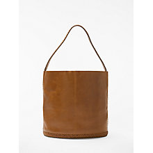 Buy AND/OR Isabella Leather Whipstitch Bucket Bag Online at johnlewis.com