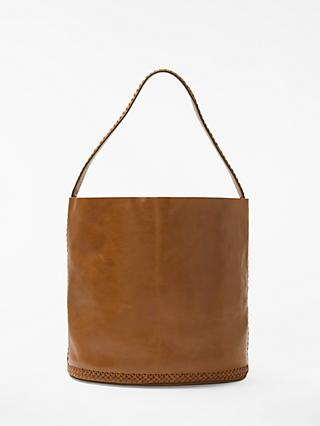And Or Isabella Leather Whipsch Bucket Bag Tan