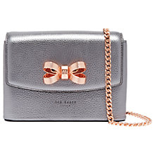 Buy Ted Baker Lupin Bow Leather Mini Across Body Bag Online at johnlewis.com