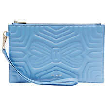 Buy Ted Baker Verda Quilted Leather Wristlet Pouch Online at johnlewis.com