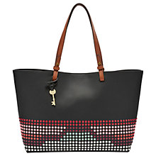 Buy Fossil Rachel Leather Tote Bag, Bright Multi Online at johnlewis.com