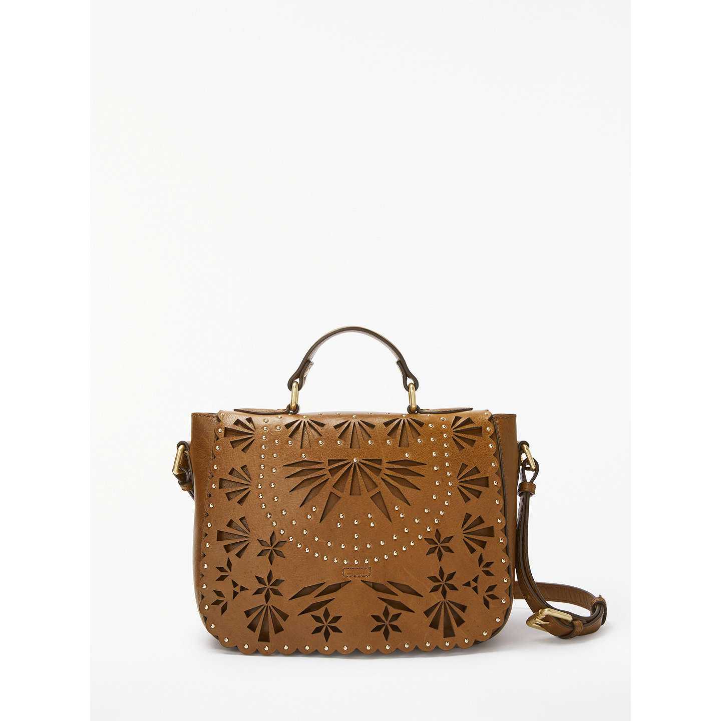 And/Or Isabella Leather Cutwork Shoulder Bag, Tan by And/Or