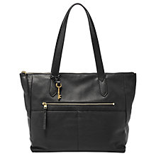 Buy Fossil Fiona Leather East/West Tote Bag, Black Online at johnlewis.com