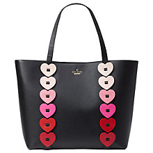 Buy kate spade new york Yours Truly Ombre Heart Leather Tote Bag, Black/Multi Online at johnlewis.com