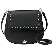 Buy kate spade new york Cameron Street Byrdie Leather Jewelled Cross Body Bag, Black Online at johnlewis.com