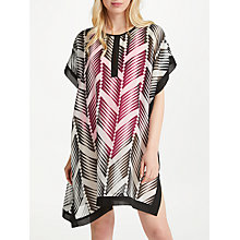 Buy John Lewis Tierra Deco Print Kaftan, Black/White Online at johnlewis.com