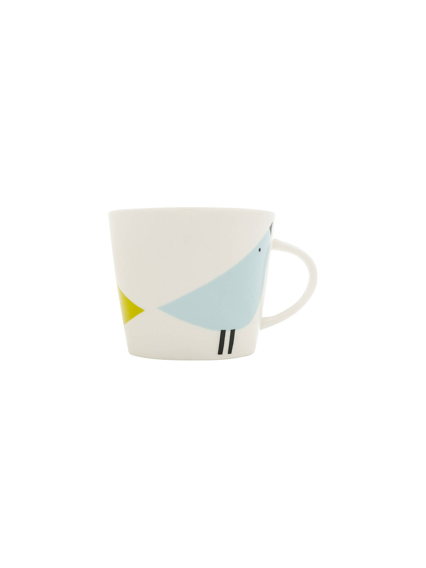 BuyScion Lintu Birds Mug, 350ml, Citron/Grey Online at johnlewis.com