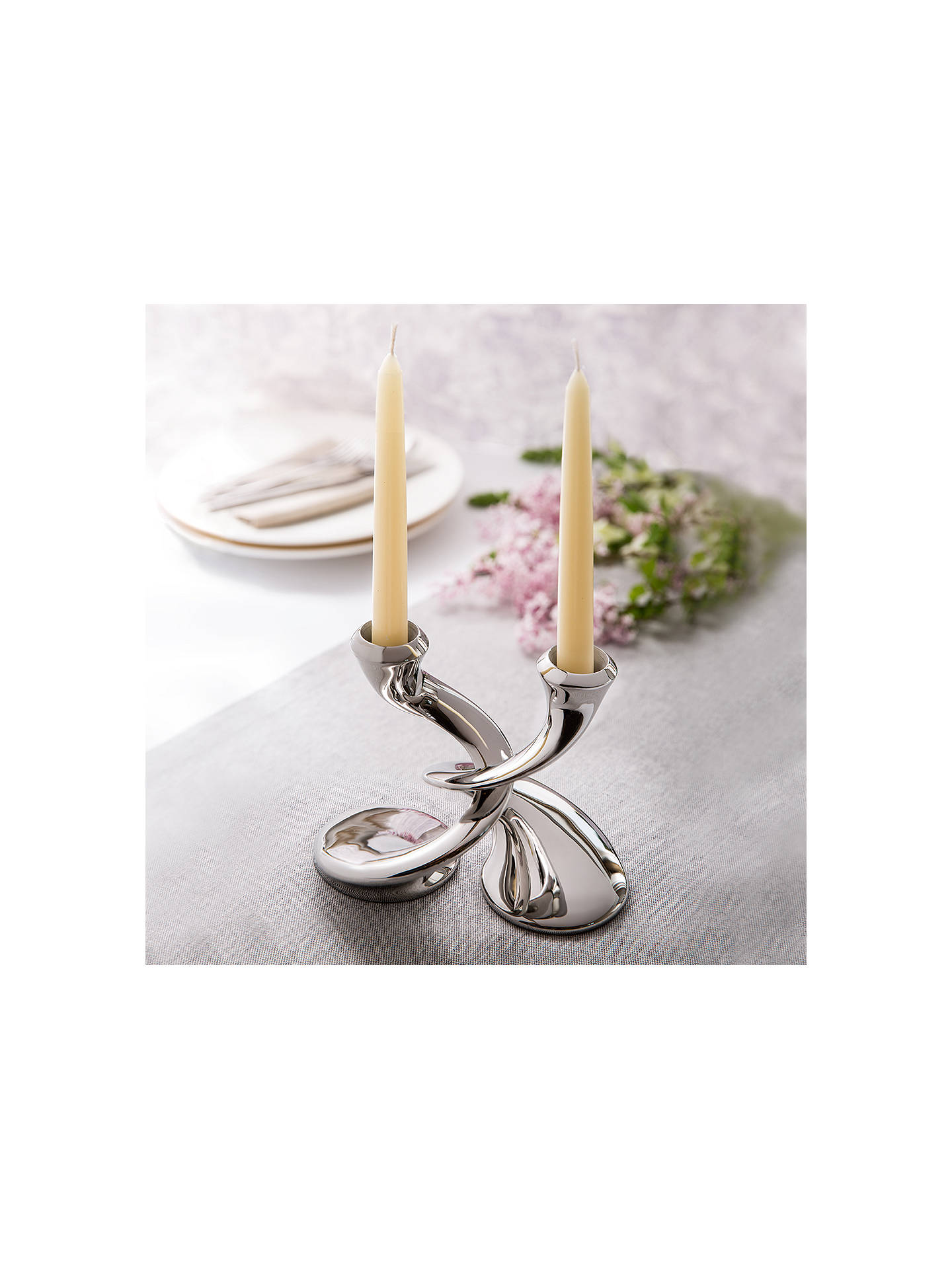 Buy Robert Welch Windrush Stainless Steel Candlestick, Pack of 2 Online at johnlewis.com
