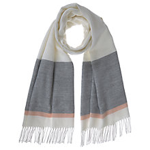 Buy Mint Velvet Blocked Contrast Blanket Scarf, Ivory Online at johnlewis.com