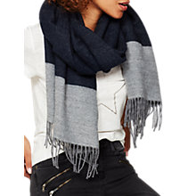 Buy Mint Velvet Blocked Stripe Scarf, Dark Blue Online at johnlewis.com