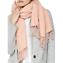 Buy Mint Velvet Apricot Solid Blanket Scarf, Light Pink Online at johnlewis.com