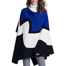 Buy Winser London Intarsia Cashmere Blend Poncho, Multi Online at johnlewis.com