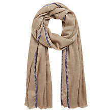 Buy Gerard Darel Elienne Embroidered Cashmere Scarf, Blue Online at johnlewis.com
