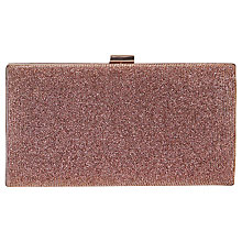 Buy Coast Bethy Glitter Box Clutch Bag, Multi Online at johnlewis.com