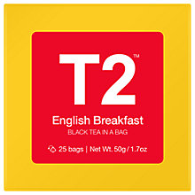 Buy T2 English Breakfast Teabags, Pack of 25 Online at johnlewis.com