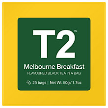 Buy T2 Melbourne Breakfast Teabags, Pack of 25 Online at johnlewis.com