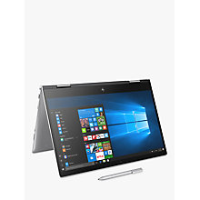 "Buy HP Envy x360 15-bp103na Convertible Laptop with Stylus, Intel Core i7, 8GB RAM, 256GB SSD, 15.6"" Full HD Touch Screen, Natural Silver Online at johnlewis.com"