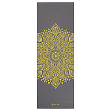 Buy Gaiam Premium Citron Sundial 5mm Yoga Mat, Grey/Citron Online at johnlewis.com