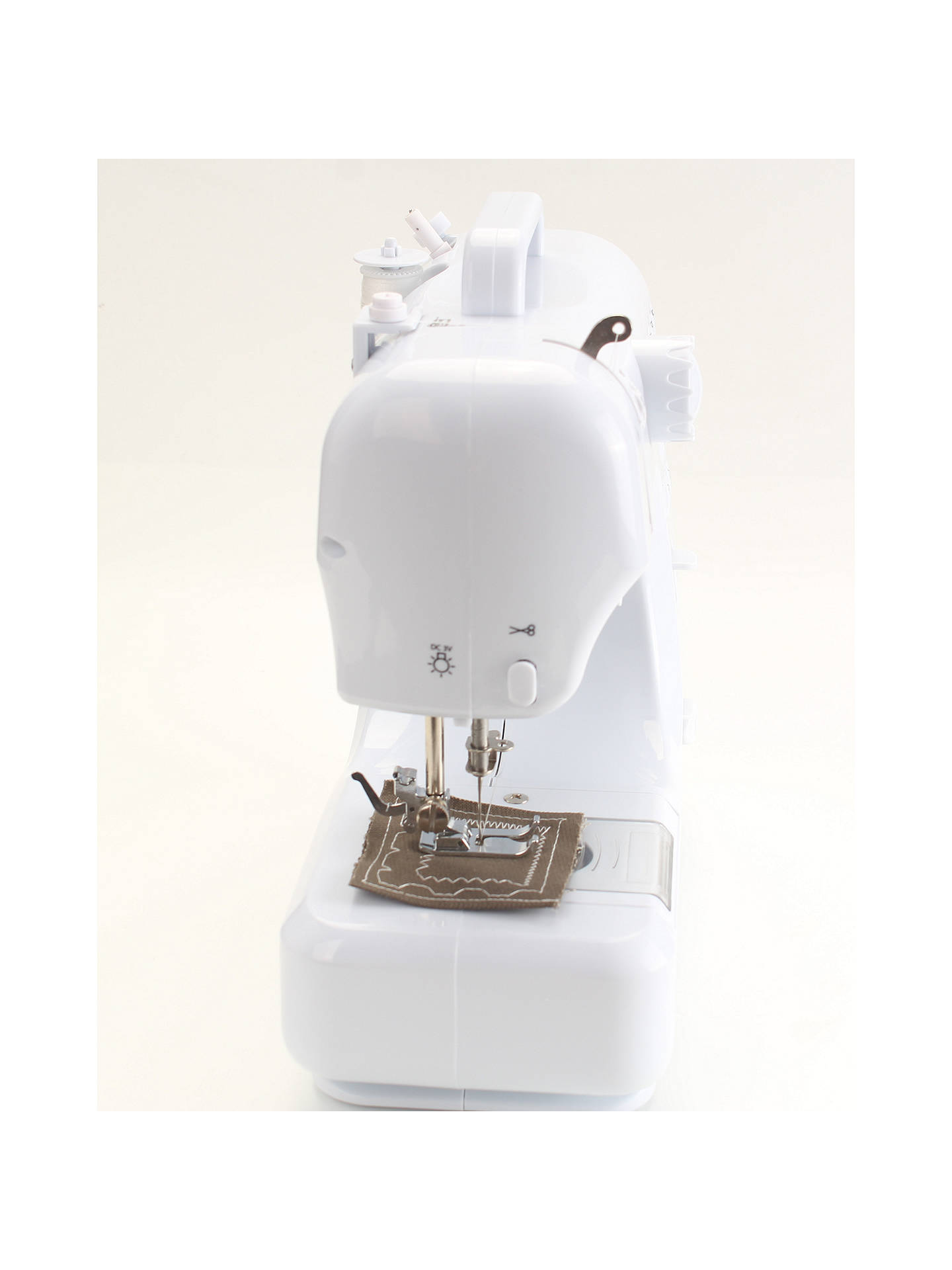 BuySilver 12 Stitch Mini Sewing Machine, White Online at johnlewis.com