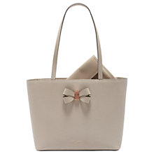 Buy Ted Baker Cattas Leather Bow Detail Shopper Bag Online at johnlewis.com