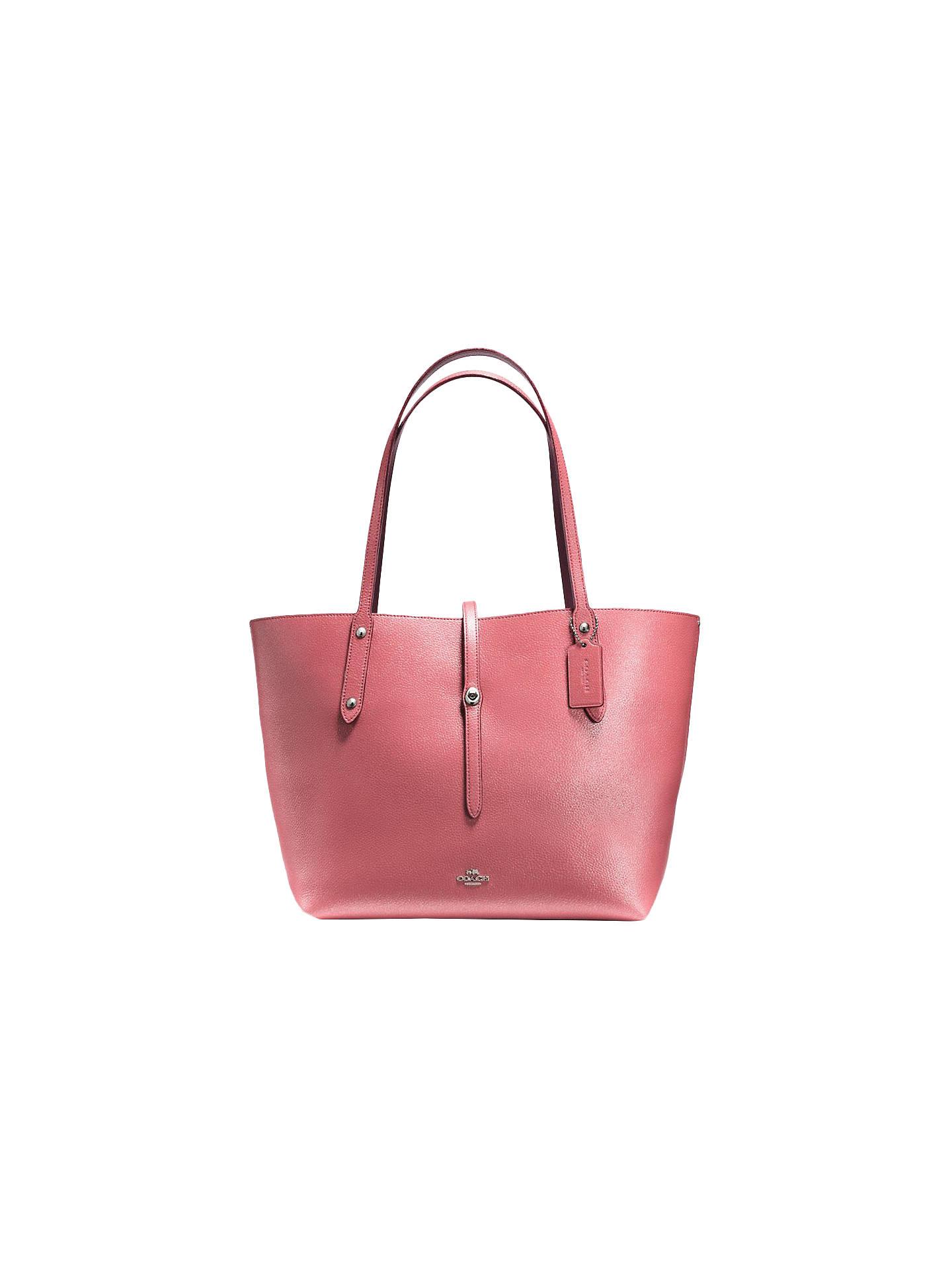 d2ba25ba6 Buy Coach Market Leather Tote Bag, Glitter Rose Gold Online at  johnlewis.com ...