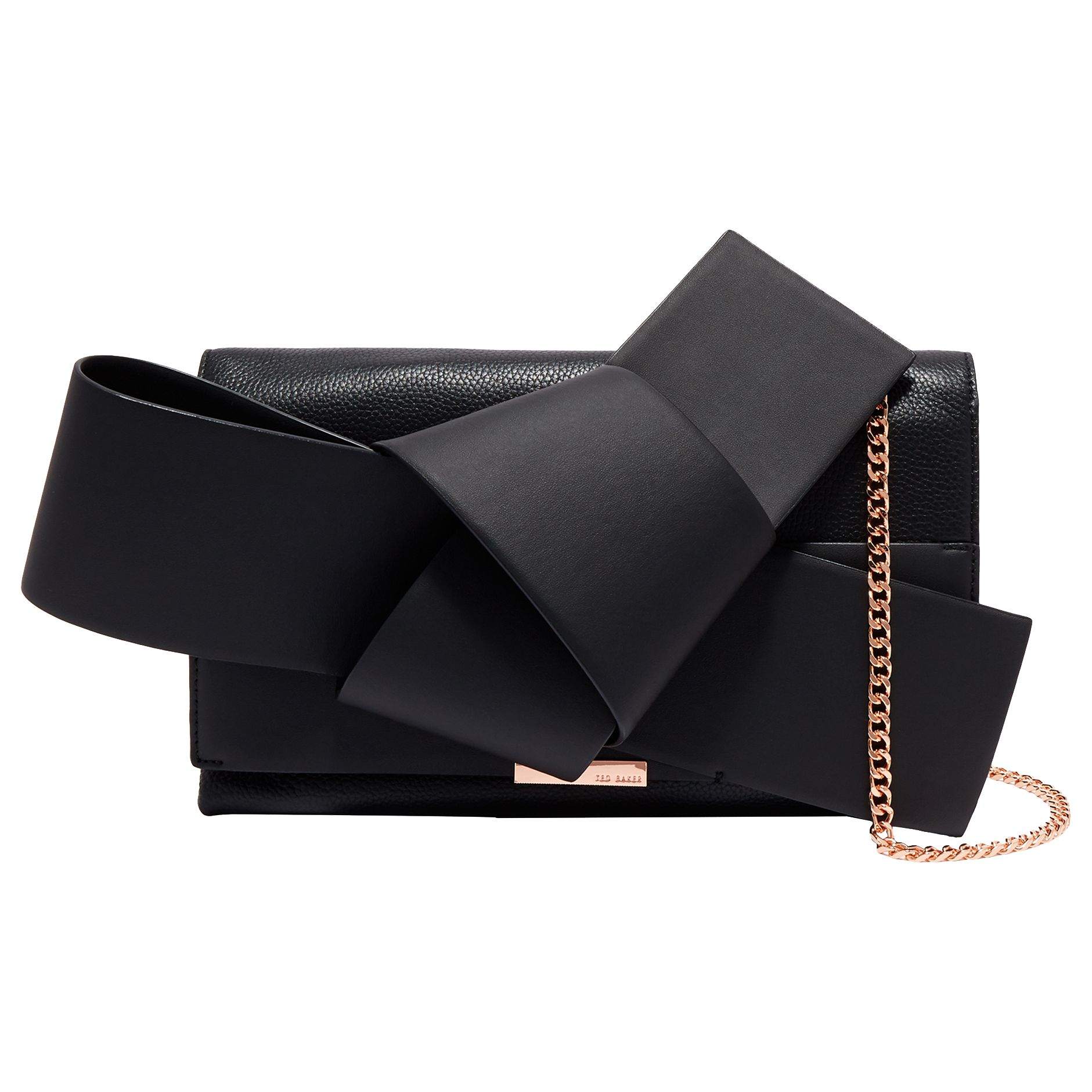 Ted Baker Asterr Leather Giant Knot Bow Evening Bag at John