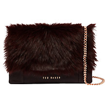 Buy Ted Baker Fuzzi Shearling Leather Cross Body Bag Online at johnlewis.com