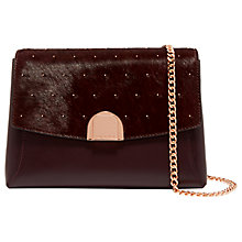 Buy Ted Baker Pipar Leather Lock Across Body Bag Online at johnlewis.com