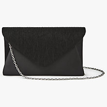 Buy John Lewis Fiona Satin Clutch Bag, Black Online at johnlewis.com