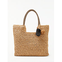 Buy John Lewis Straw Pom Pom Shoulder Bag Online at johnlewis.com