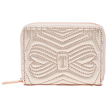 Buy Ted Baker Romma Leather Quilted Bow Small Zipped Purse Online at johnlewis.com