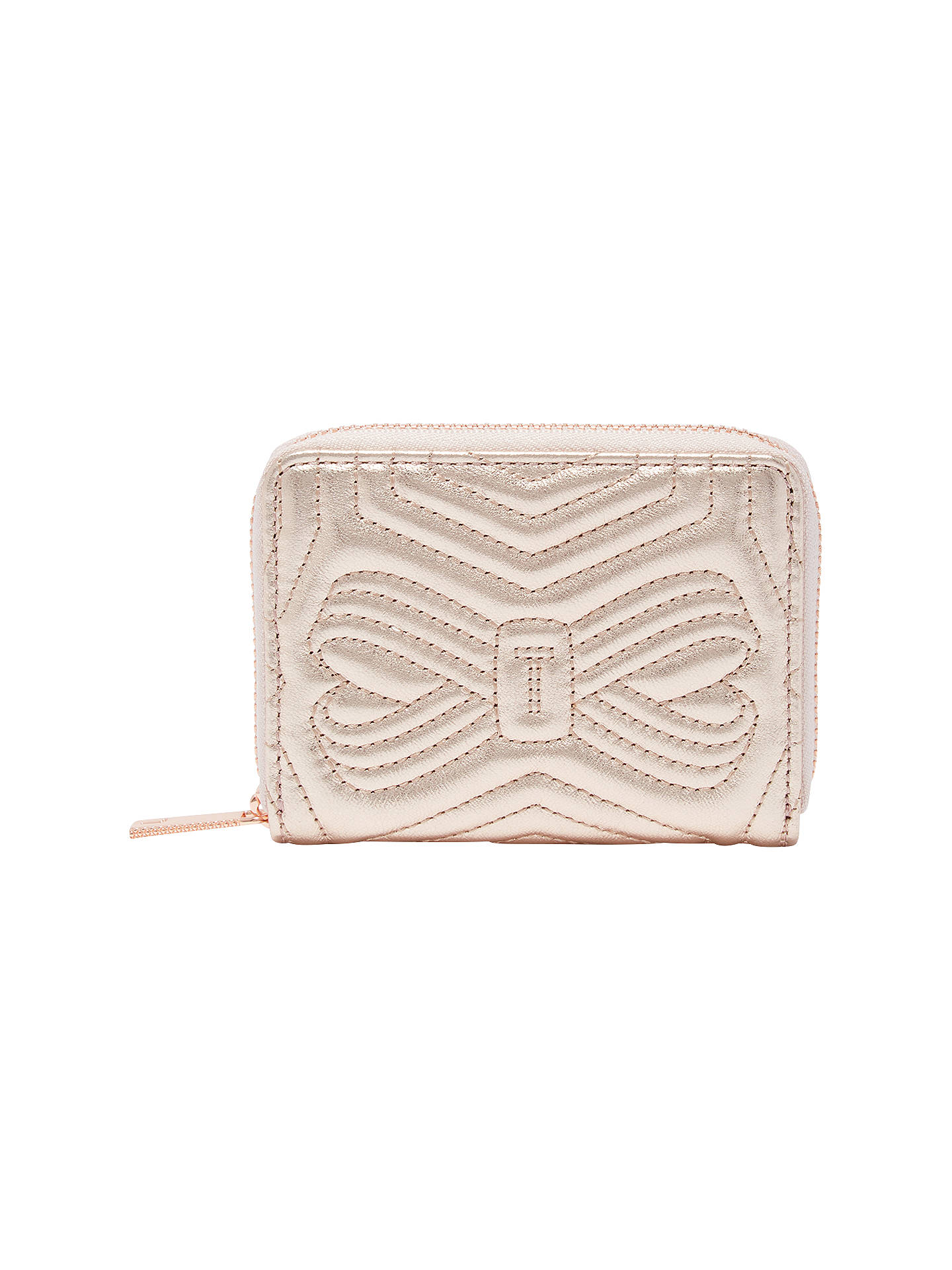 06f7133bc Ted Baker Romma Leather Quilted Bow Small Zipped Purse at John Lewis ...