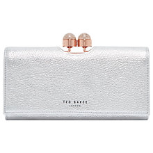 Buy Ted Baker Pamelia Leather Bobble Matinee Purse, Sliver Online at johnlewis.com