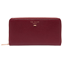 Buy Ted Baker Pasy Leather Zipped Matinee Purse Online at johnlewis.com