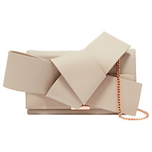 Buy Ted Baker Asterr Leather Giant Knot Bow Evening Bag Online at johnlewis.com