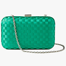 Buy John Lewis Stella Box Clutch Bag, Green Online at johnlewis.com