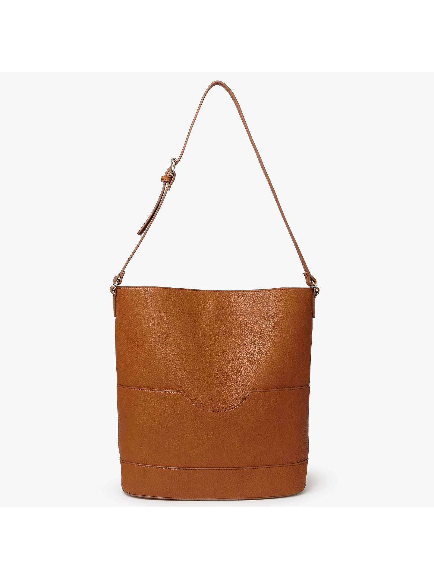 John Lewis Partners Rachel Bucket Bag Tan Online At Johnlewis