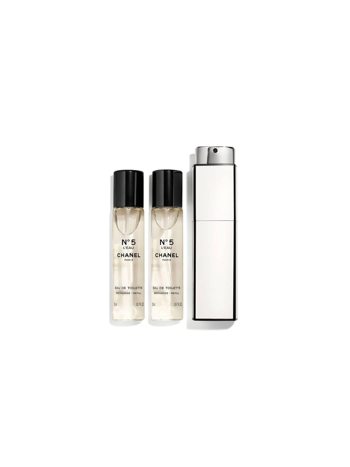 a8a38232eb7057 CHANEL N°5 L'Eau Purse Spray 3 x 20ml at John Lewis & Partners