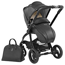 Buy egg Special Edition Stroller Base & Seat Unit with Changing Bag and Fleece Liner, Jurassic Black Online at johnlewis.com
