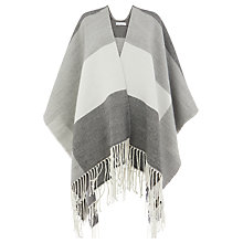 Buy Warehouse Checked Cape, Grey Pattern Online at johnlewis.com