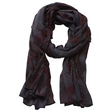 Buy Betty & Co. Long Floral Print Scarf, Blue/Dark Red Online at johnlewis.com