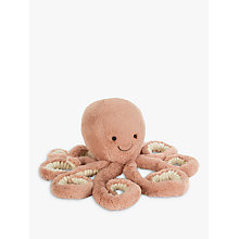 Buy Jellycat Odell Octopus Soft Toy, Medium, Orange Online at johnlewis.com