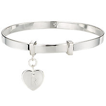 Buy Molly Brown London Sterling Silver Love Heart Christening Bangle Online at johnlewis.com