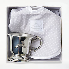 Buy English Trousseau Dashing Hare Bib and Victorian Cup Set Online at johnlewis.com